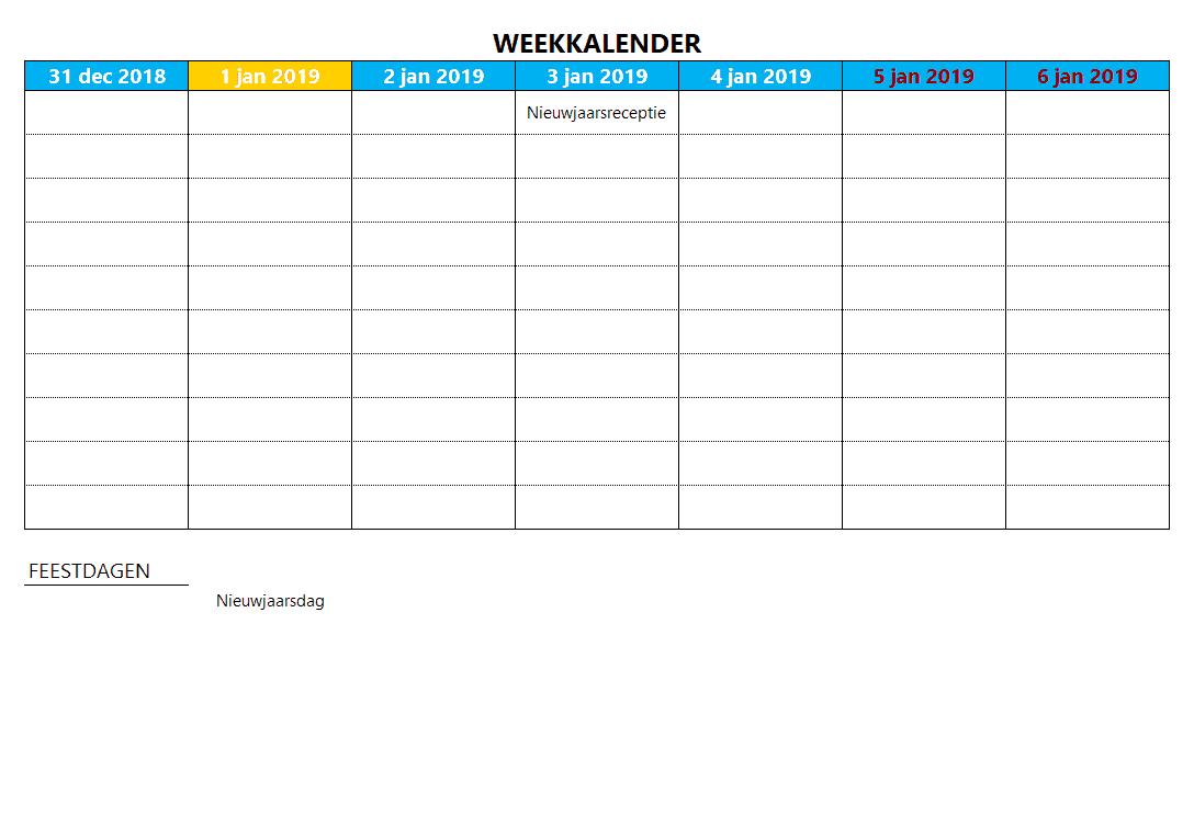 Kalenderontwerp 19