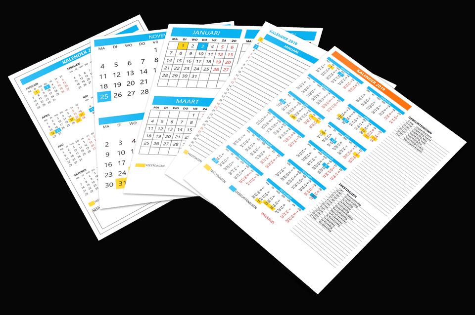 Excel Kalender sjabloon 5 voorbeelden