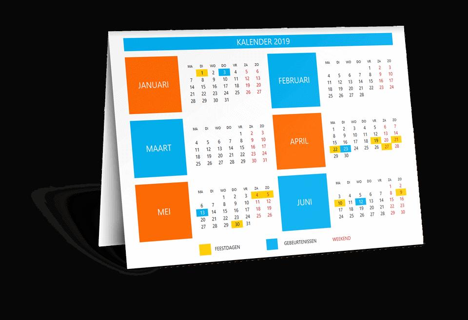 Kalender template Excel