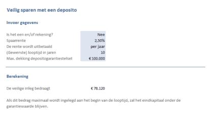 Sparen & Beleggen: veilig sparen