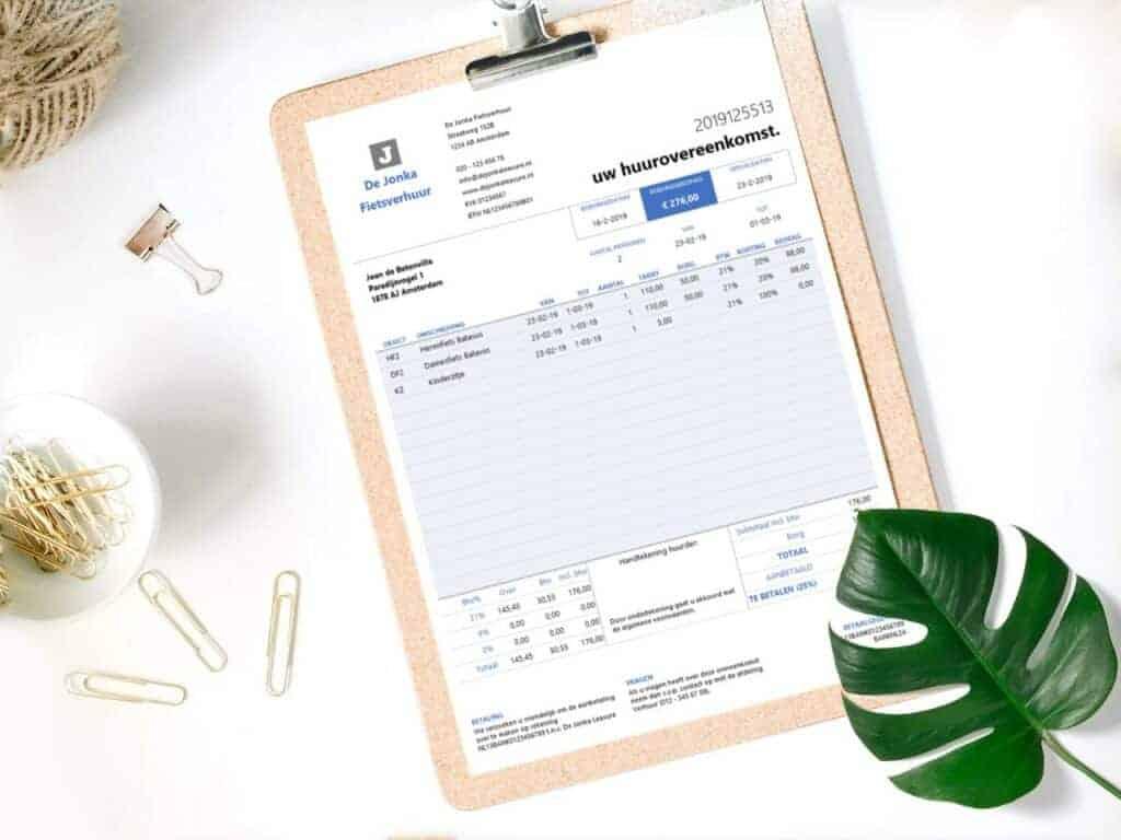 Verhuurovereenkomst Excel
