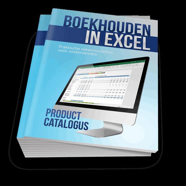 Boekhouden in Excel Productcatalogus