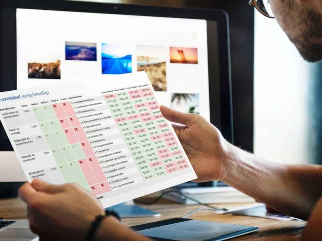 Veiligheidsladder in Excel
