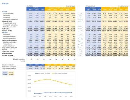 Financieel rapportagemodel - balans