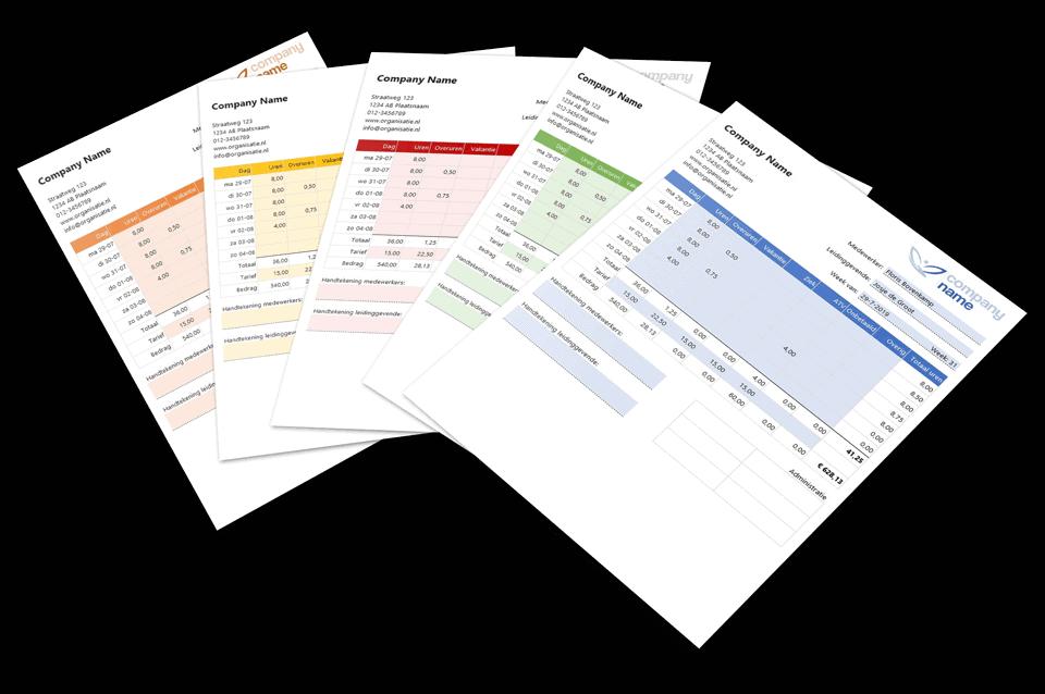 Mooi urenregistratie sjablonen in Excel