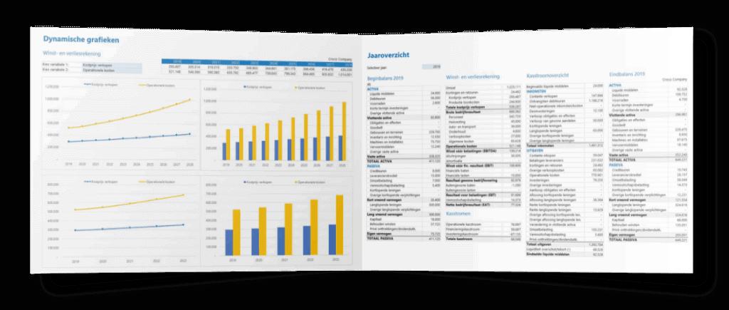 Voorbeeld rapportages Excel plan