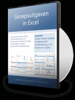 Groepsuitgaven verrekenen in Excel