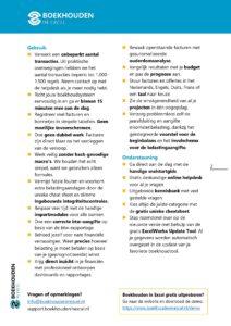 Voordelen Boekhouden in Excel 6.0