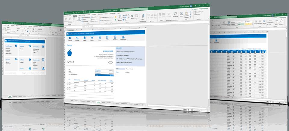 Voorbeeldschermen Voorraadbeheer in Excel