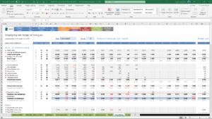 Vergelijking realisatie met budget en vorig jaar
