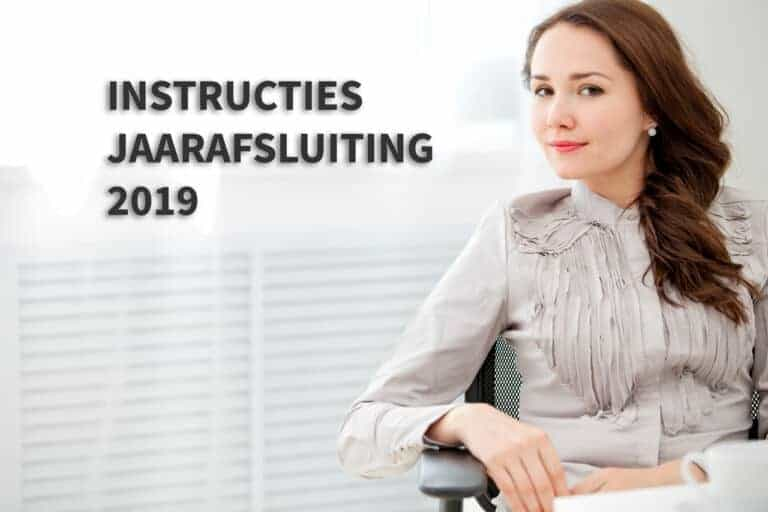 Instructies Jaarafsluiting 2019