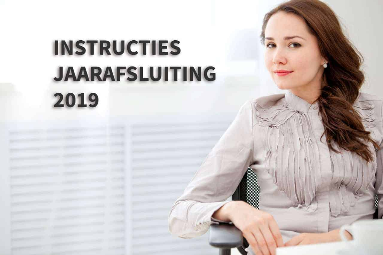 Instructies Jaarafsluiting 2019