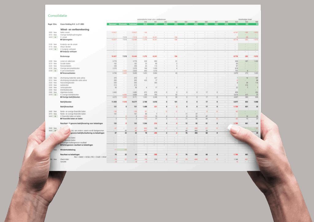 Geconsolideerde jaarrekening maken met Consolidatie in Excel