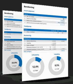 Erfbelasting berekenen in Excel