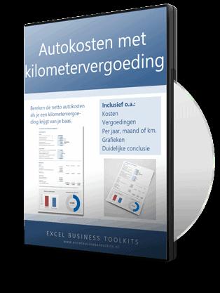 Netto autokosten met kilometervergoeding berekenen in Excel