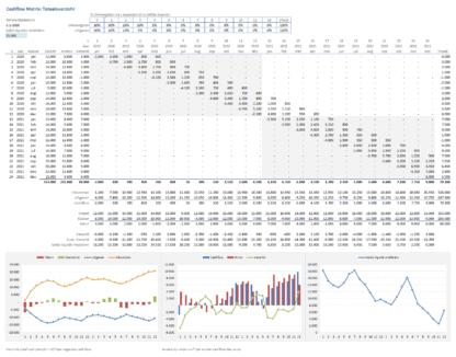Cashflow matrix totaaloverzicht