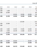Financieringsplan in Excel per jaar