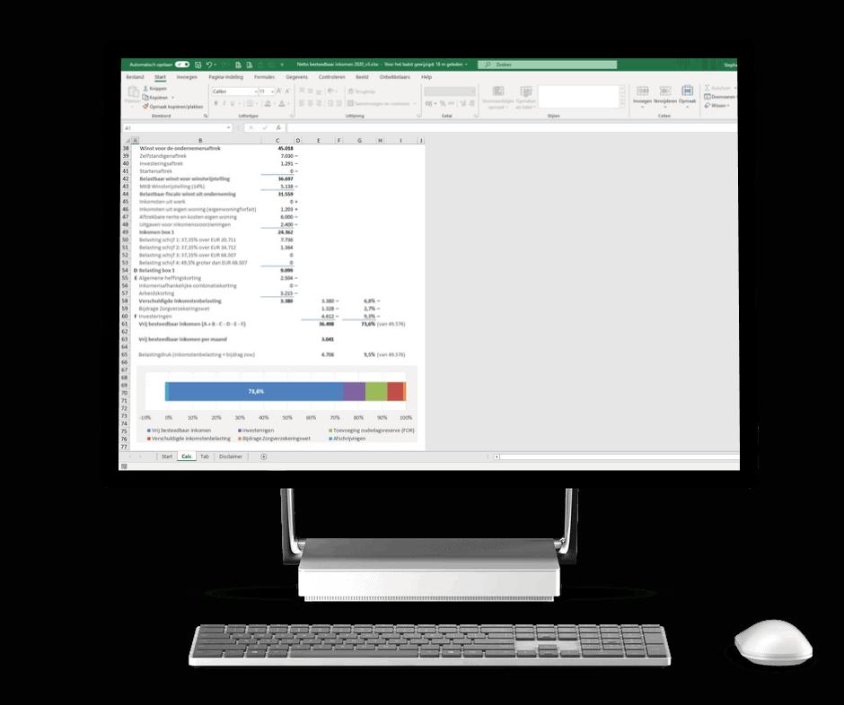 Besteedbaar inkomen ZZP Excel