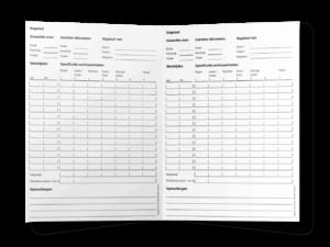 Dagstaat voor chauffeurs, model TLN in A4 en A5-formaat