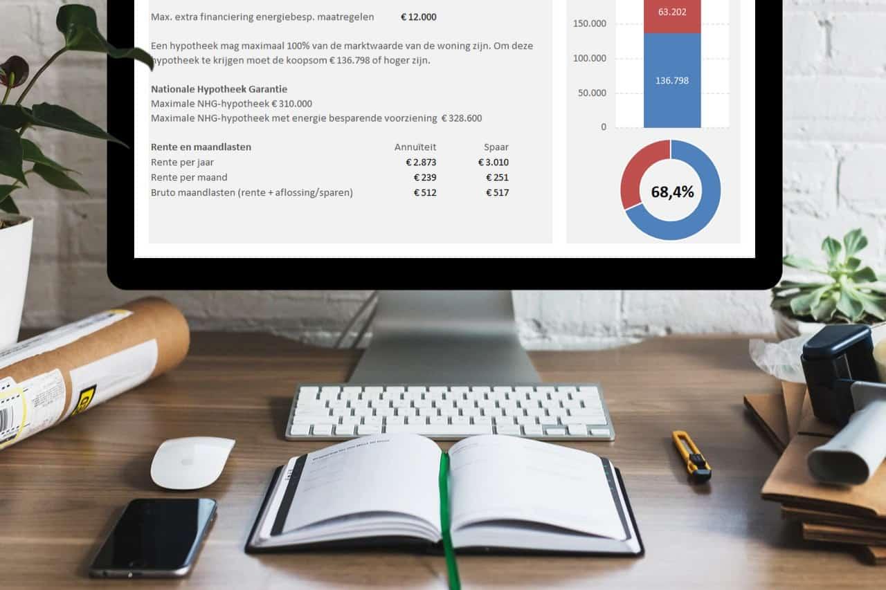 Bereken wat je maximaal kunt lenen bij de aankoop van een huis op je eigen computer