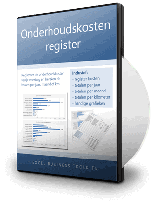 Onderhoudskosten register in Excel