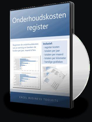 Onderhoudskosten register in Excel