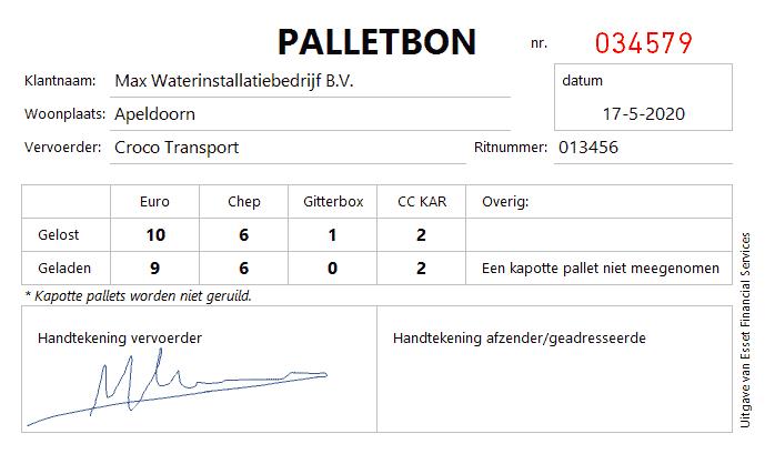 Palletbon ontwerp 1