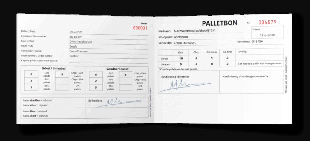 Palletbon - Emballagebon