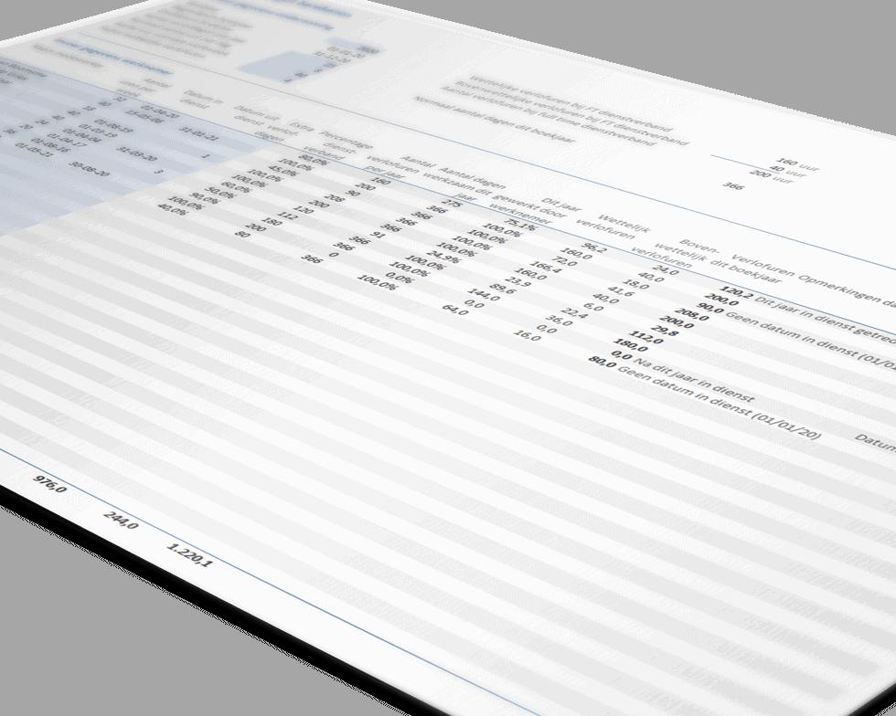 Vakantierechten berekenen (Excel-sjabloon)