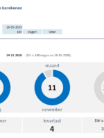 Bereken de datum die een aantal dagen, weken of maanden later of eerder ligt dan de opgegeven datum.