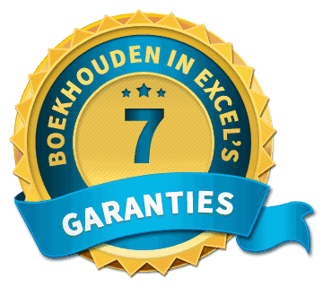 7 garanties van Boekhouden in Excel