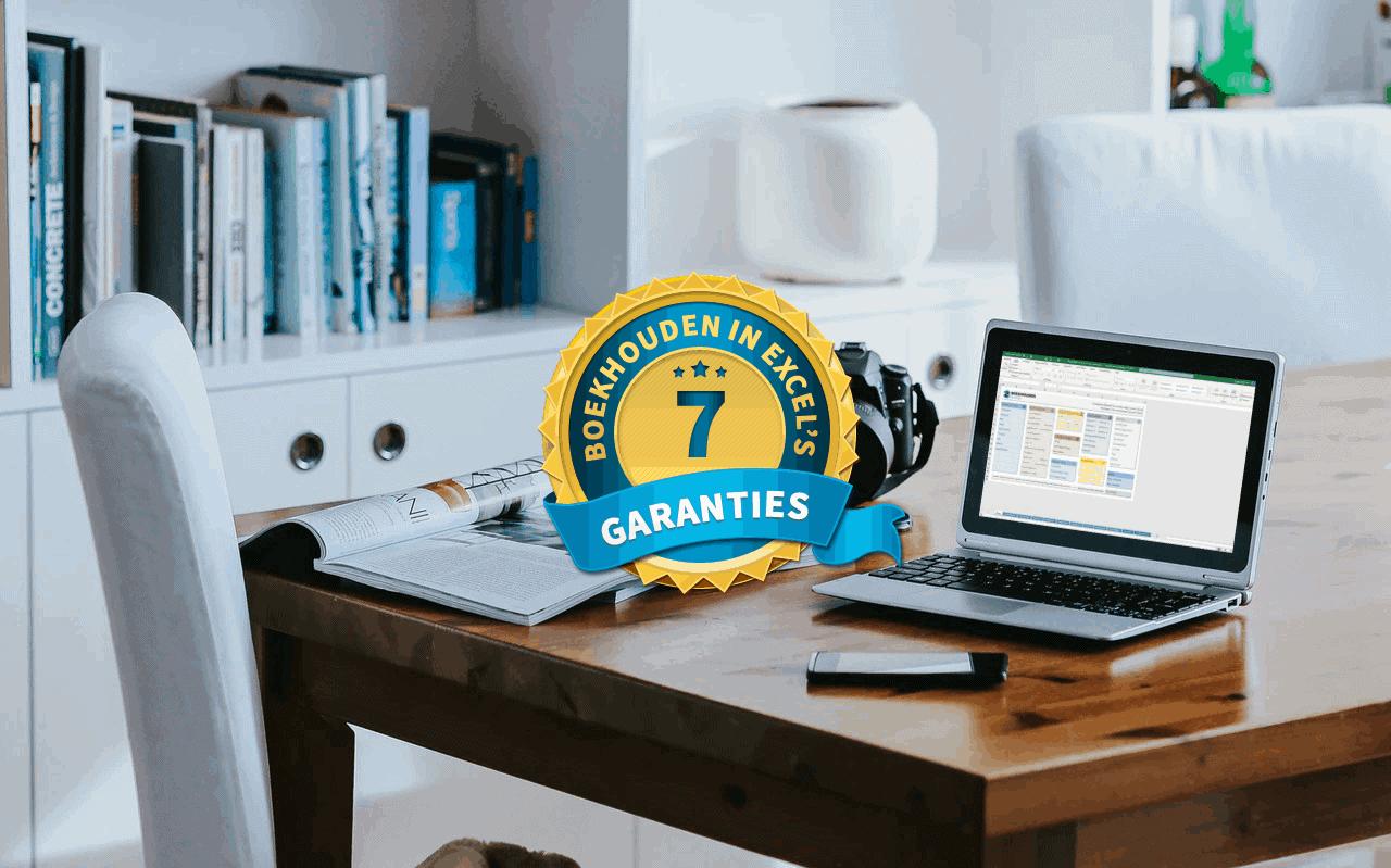 Boekhouden in Excel's 7 garanties