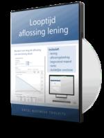 Looptijd aflossing lening berekenen in Excel