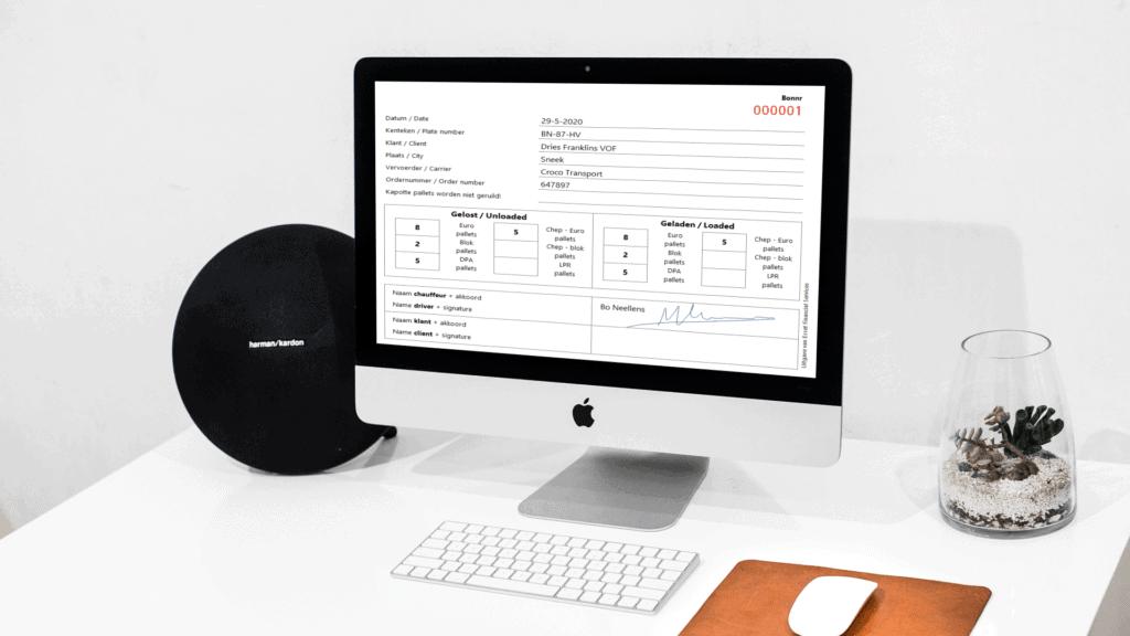 Emballagebon in Excel