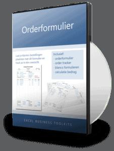 Orderformulier in Excel