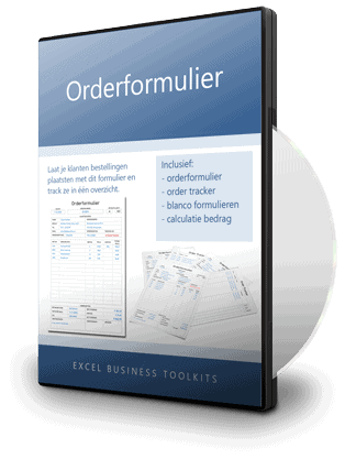 Orderformulier in Excel