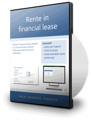 Rente in financial lease