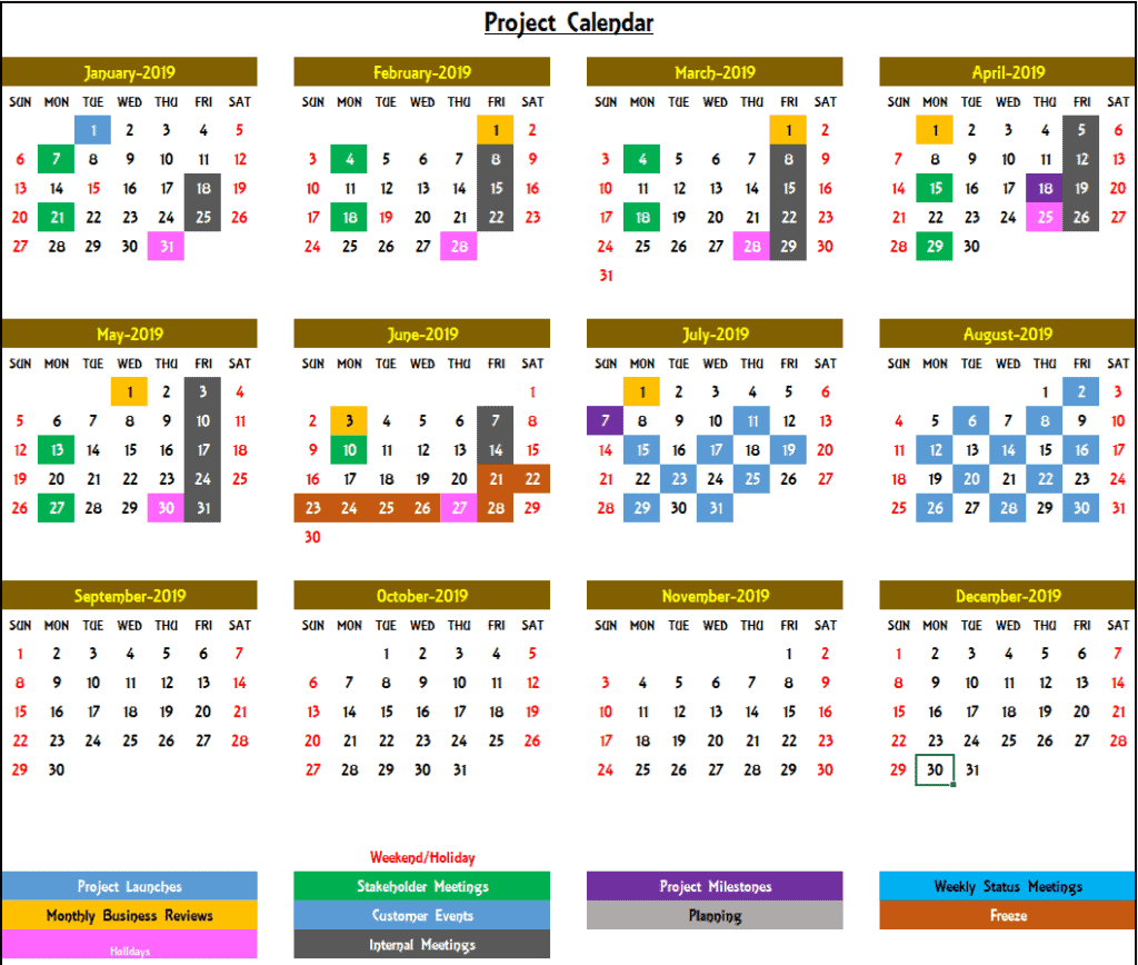 Project kalender