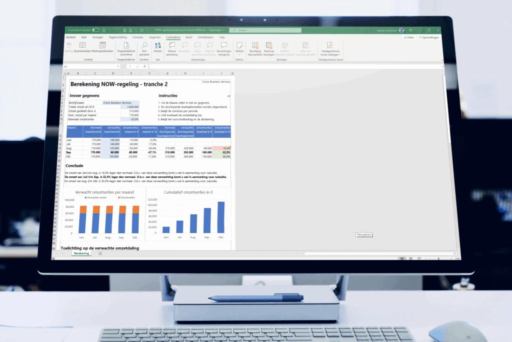 Berekening Excel NOW-regeling 2.0