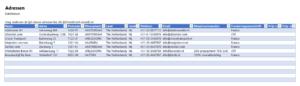 Adressen bijhouden in Pakbon in Excel