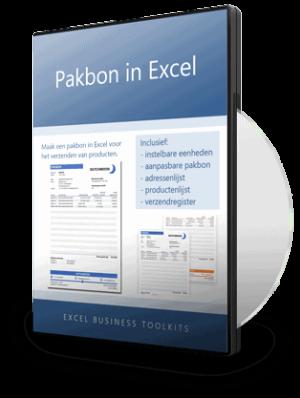 Pakbon in Excel