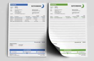 Twee voorbeeld pakbonnen in Excel