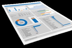 Dashboard op 1 A4 Huishoudbudget in Excel Pro
