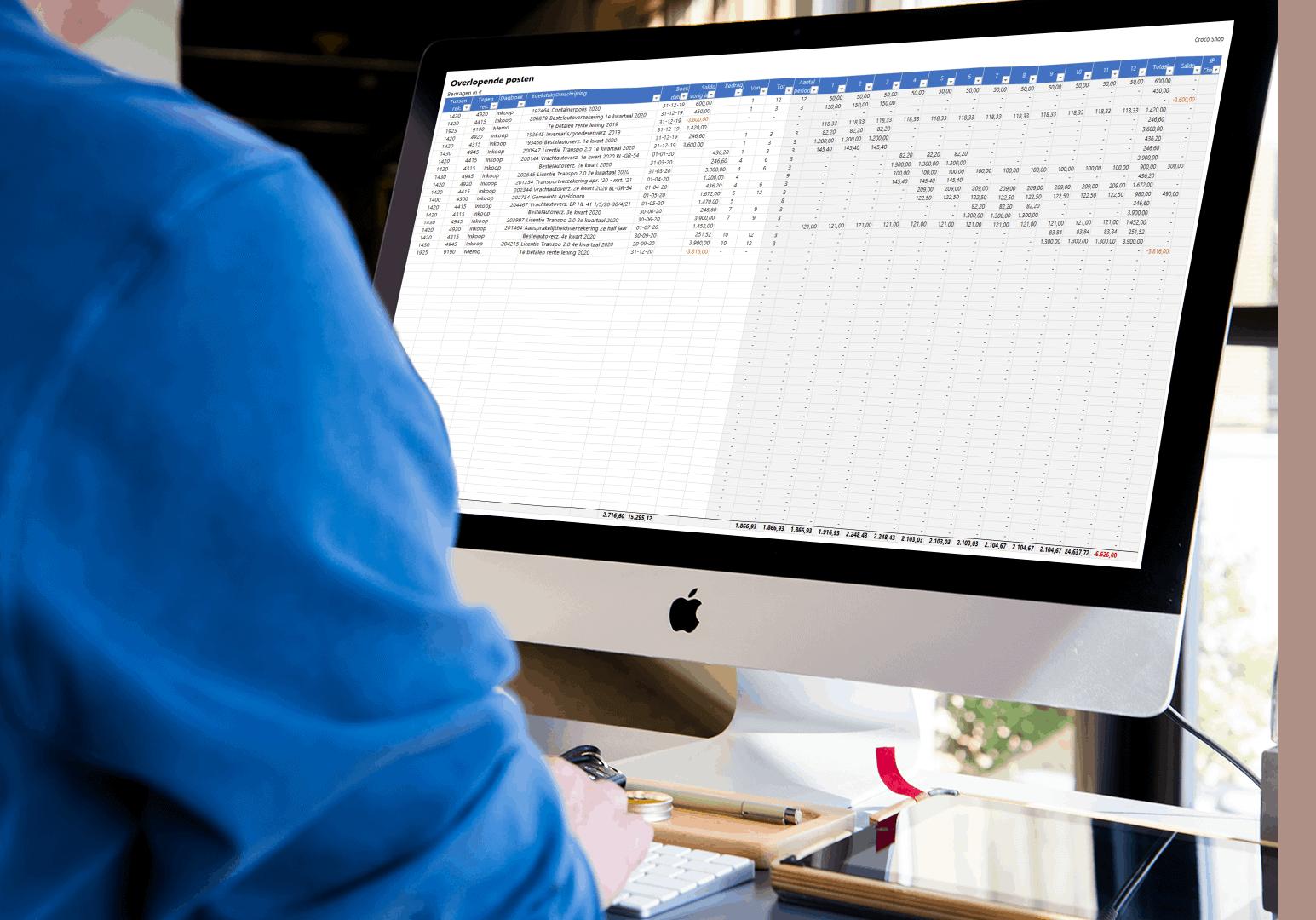 Overlopende posten beheren in Excel