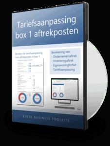 Tariefsaanpassing aftrekposten box 1