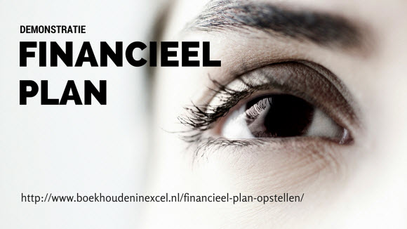 Financieel plan opstellen in Excel