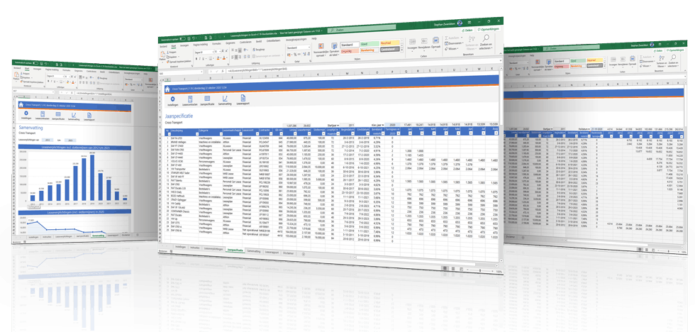 Registreer en beheer al je leasecontracten in Excel