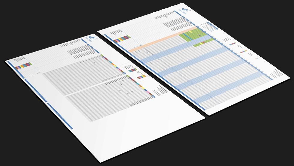 Presentielijst in Excel voorbeeld