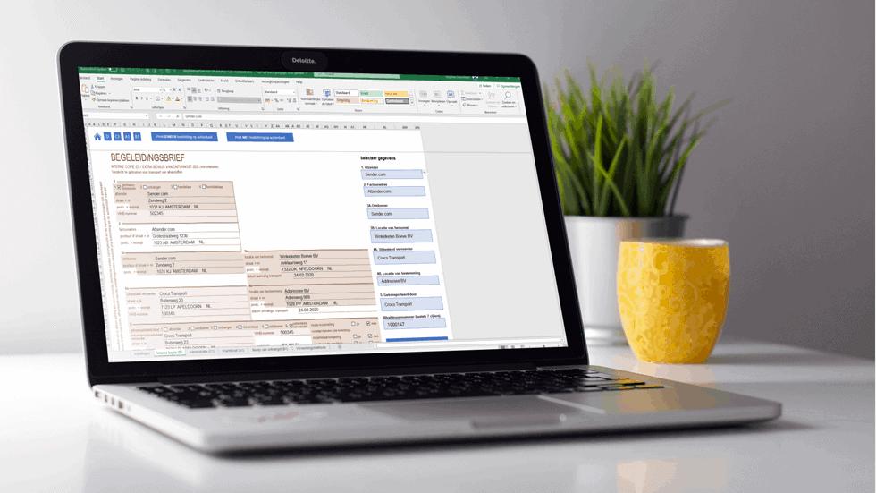 Begeleidingsbrief invullen in Excel