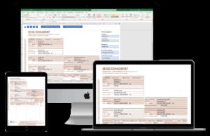 Maak snel een begeleidingsbrief in Excel